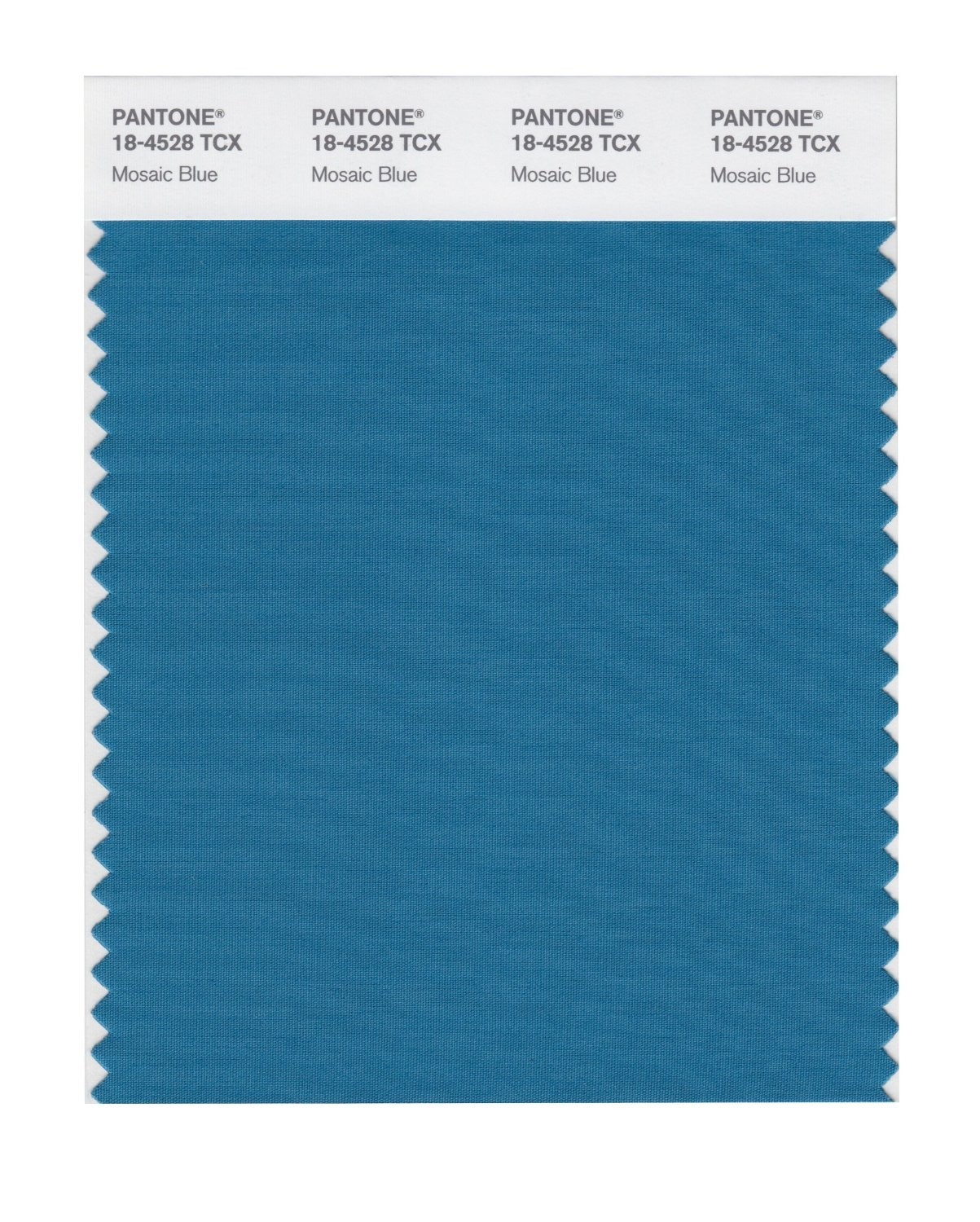 Pantone 18-4528 TCX Swatch Card Mosaic Blue