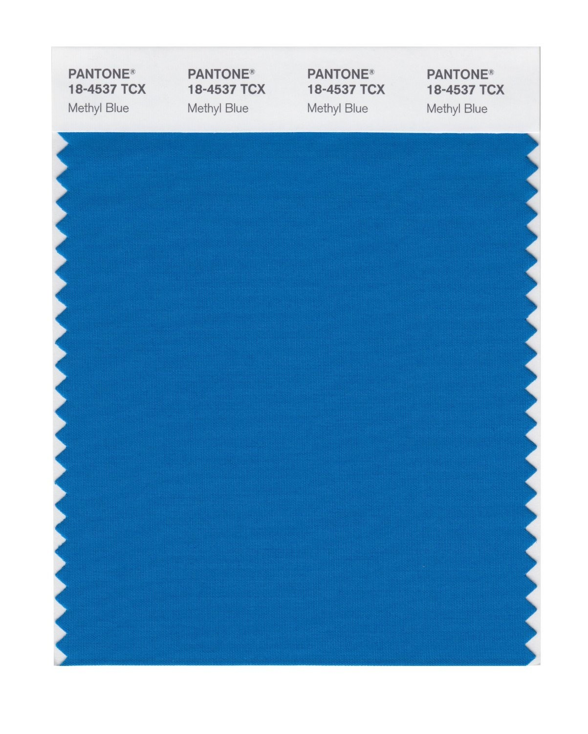 Pantone 18-4537 TCX Swatch Card Methyl Blue