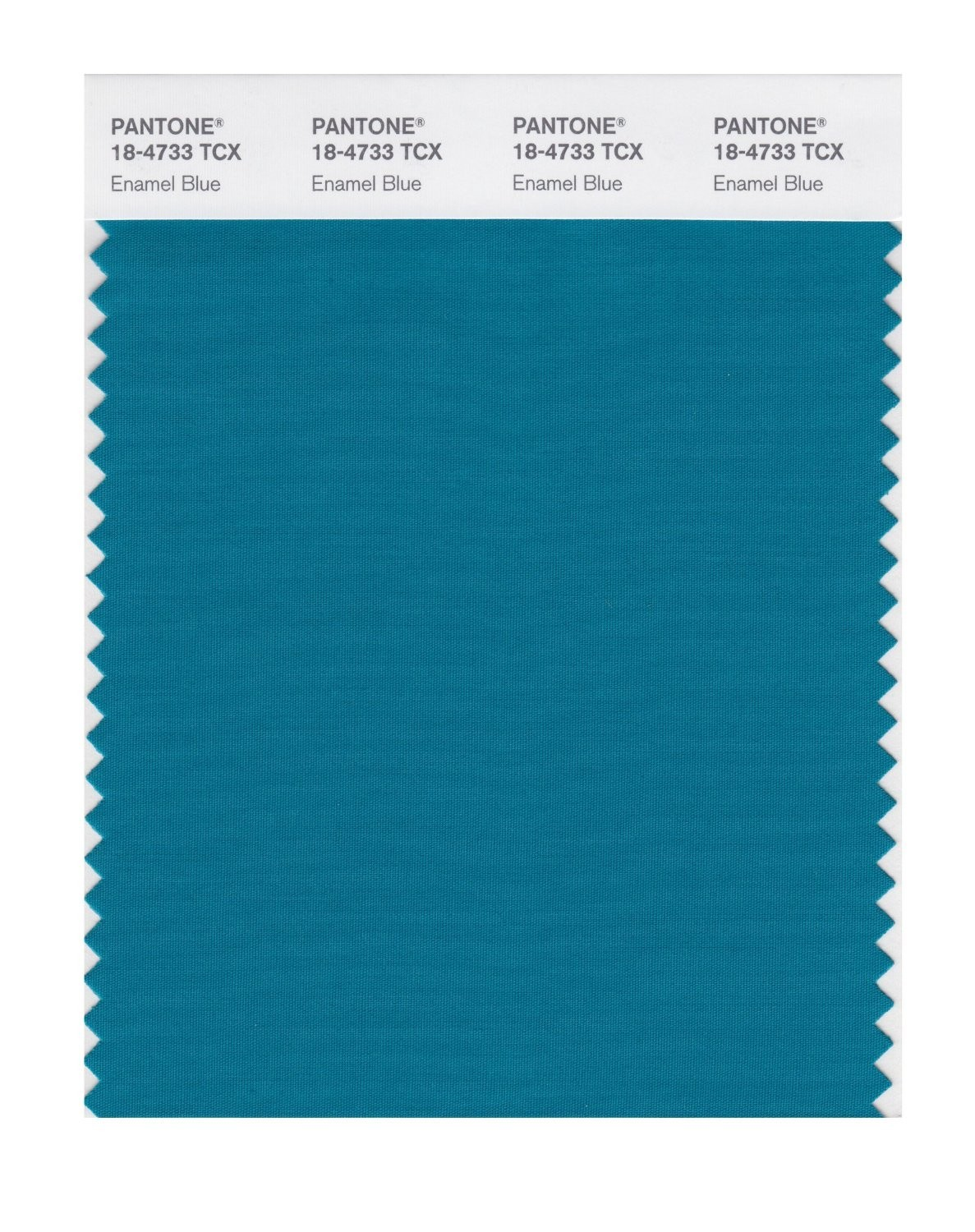 Pantone 18-4733 TCX Swatch Card Enamel Blue