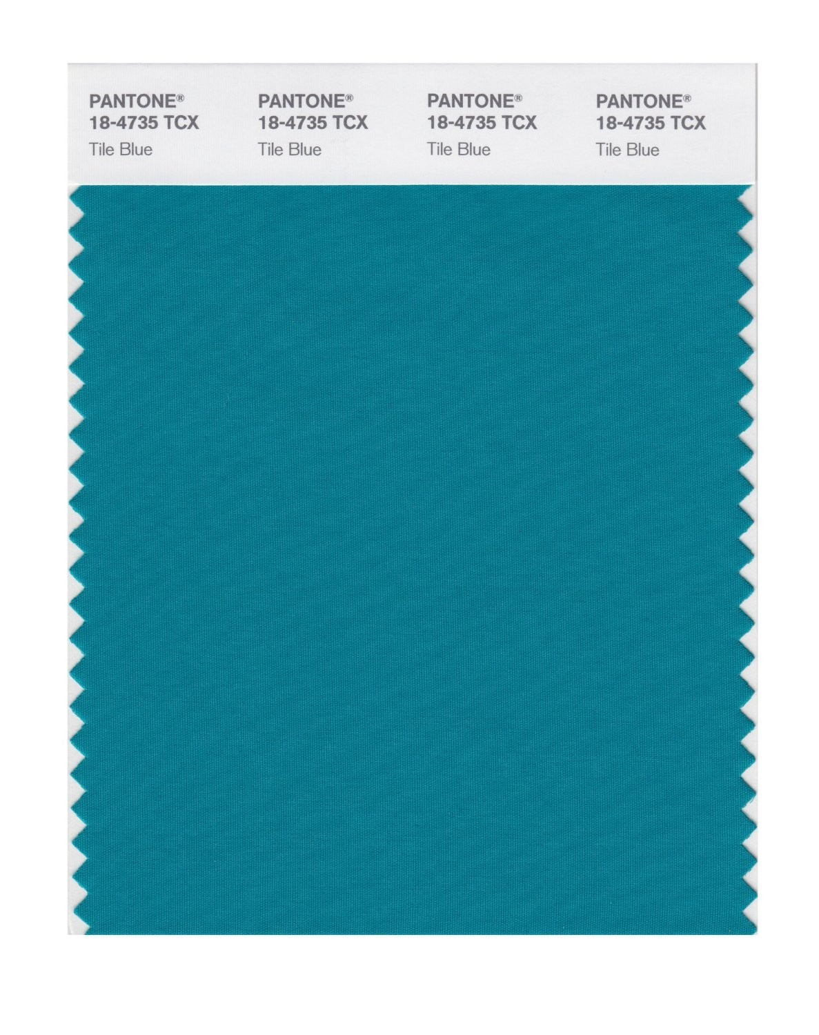 Pantone 18-4735 TCX Swatch Card Tile Blue