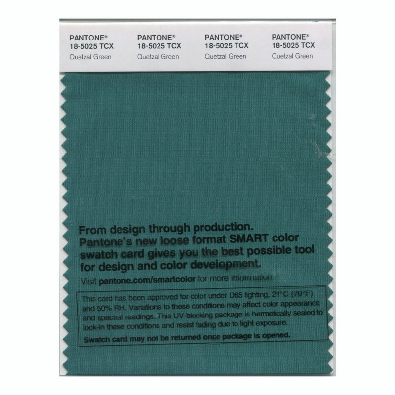 Pantone 18-5025 TCX Swatch Card Smoked Pearl