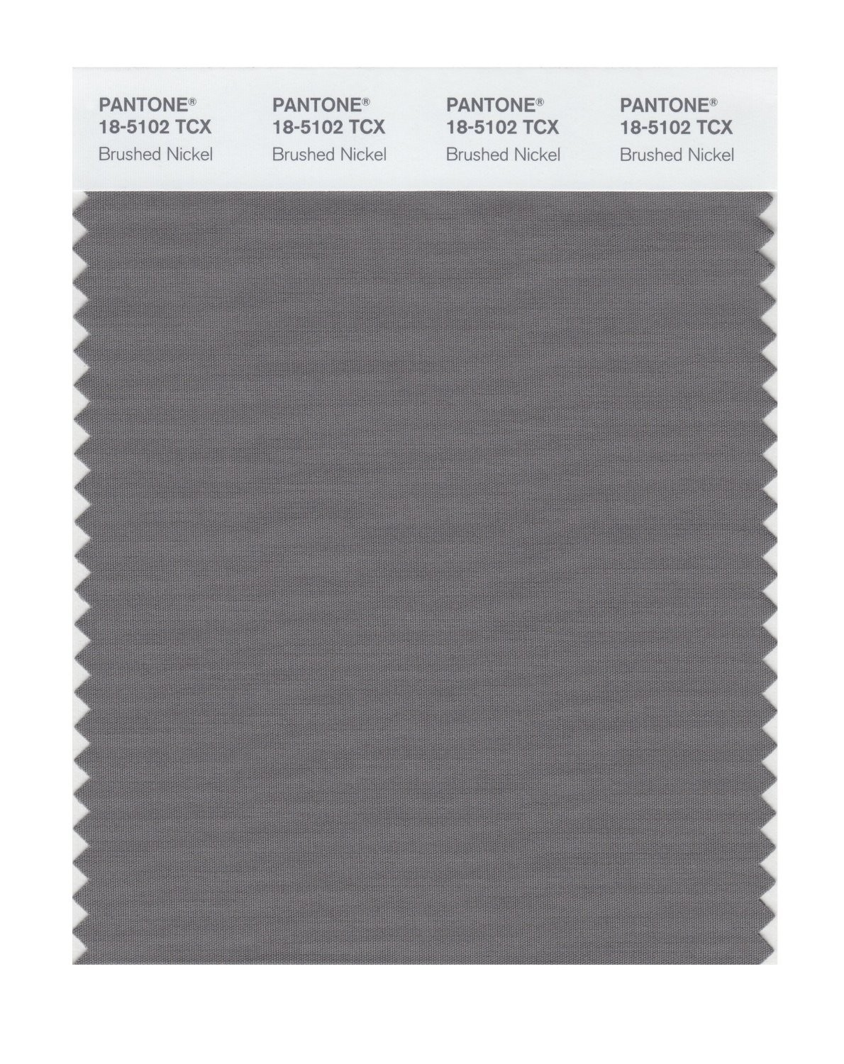 Pantone 18-5102 TCX Swatch Card Brushed Nickel