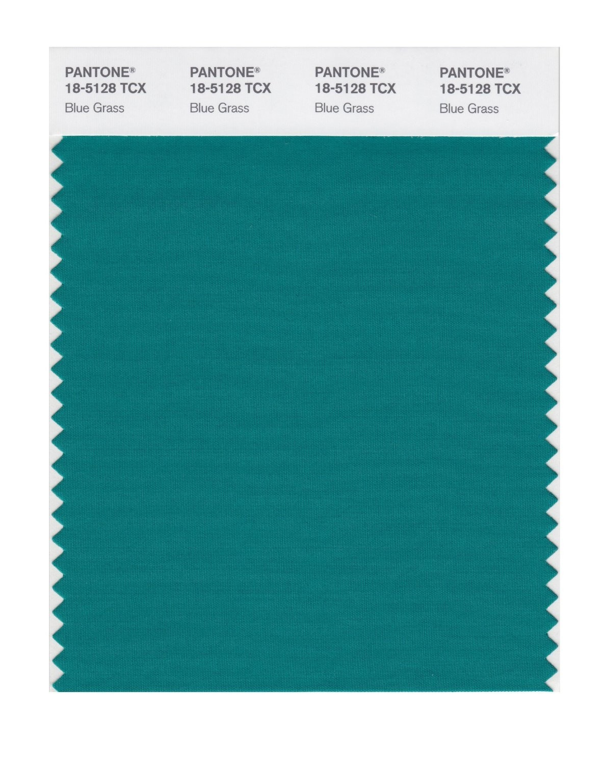 Pantone 18-5128 TCX Swatch Card Blue Grass