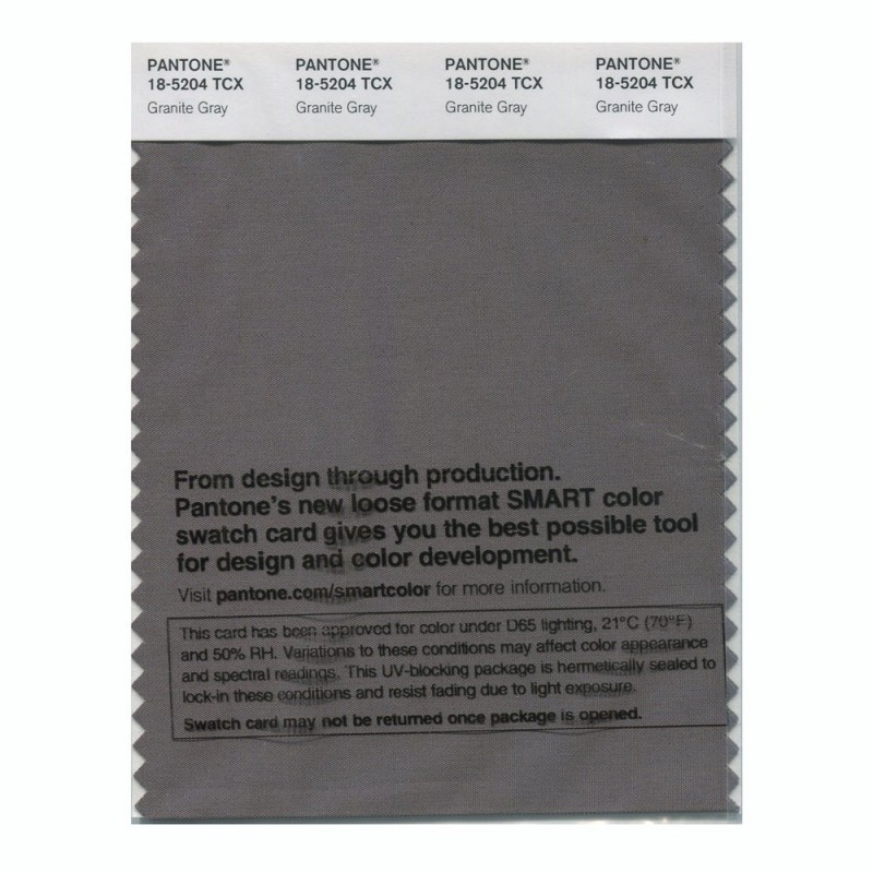 Pantone 18 5204 Tcx Swatch Card Granite Gray Buy In India