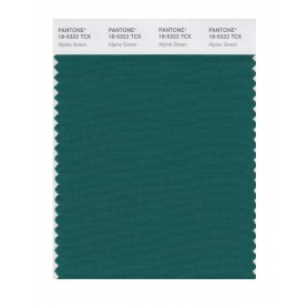 Pantone 18-5322 TCX Swatch Card Alpine Green