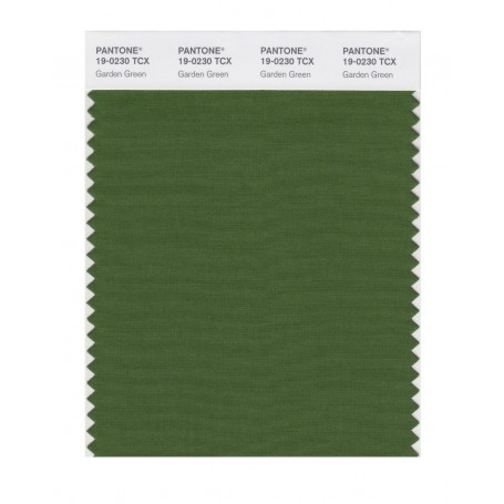 Pantone 19-0230 TCX Swatch Card Garden Green