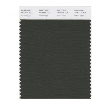 Pantone 19-0414 TCX Swatch Card Forest Night