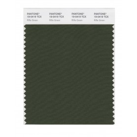 Pantone 19-0419 TCX Swatch Card Rifle Green