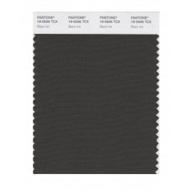 Pantone 19-0506 TCX Swatch Card Black Ink