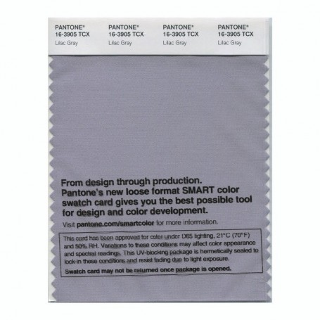 Pantone 16-3905 TCX Swatch Card Lilac Gray