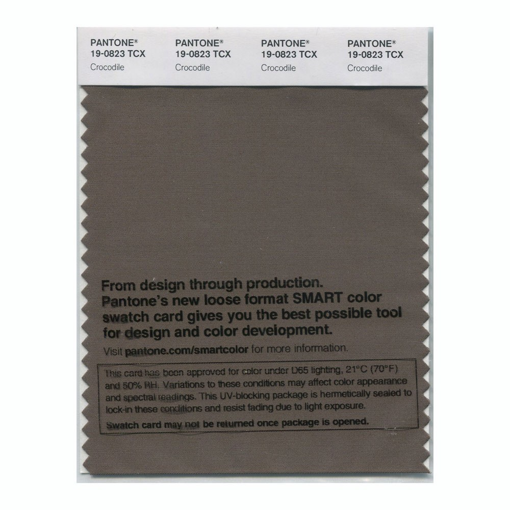 Pantone 19-0823 TCX Swatch Card Crocodile