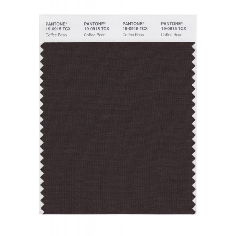 Pantone 19-0915 TCX Swatch Card Coffee Bean