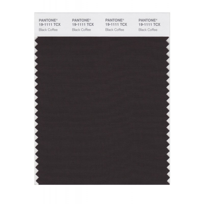 Pantone 19-1111 TCX Swatch Card Black Coffee