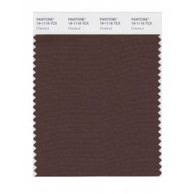 Pantone 19-1118 TCX Swatch Card Chestnut