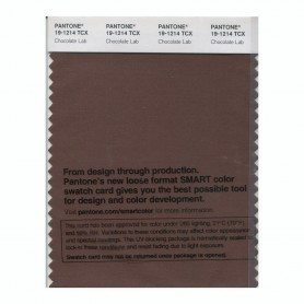 Pantone 19-1214 TCX Swatch Card Chocolate Lab
