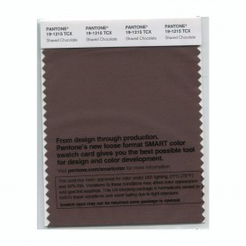 Pantone 19-1215 TCX Swatch Card Shaved Chocolate
