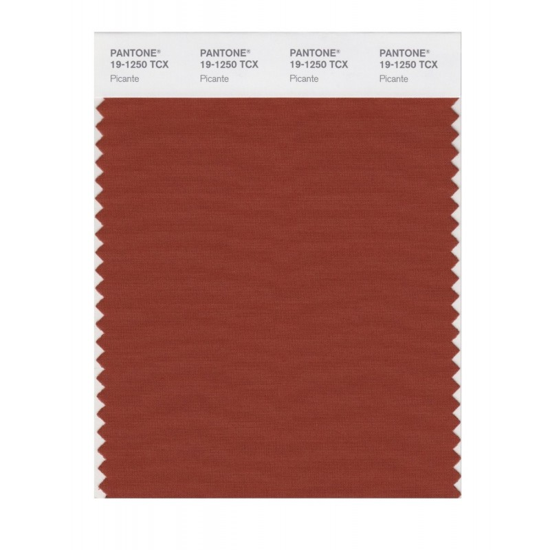 Pantone 19-1250 TCX Swatch Card Picante