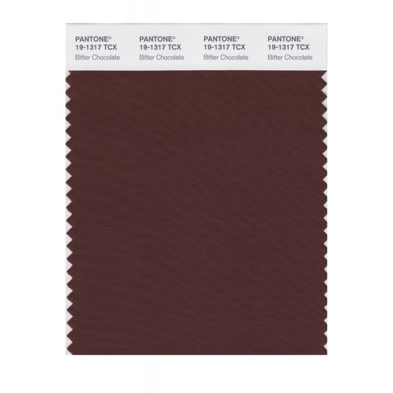 Pantone 19-1317 TCX Swatch Card Bitter Chocolate