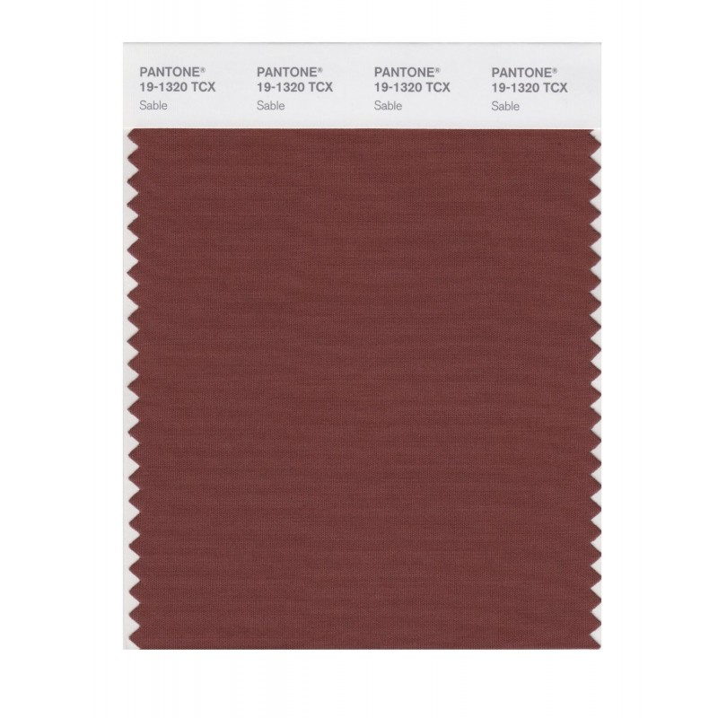 Pantone 19-1320 TCX Swatch Card Sable