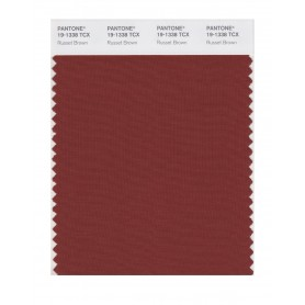 Pantone 19-1338 TCX Swatch Card Russet Brown