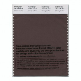 Pantone 19-1419 TCX Swatch Card Chicory Coffee