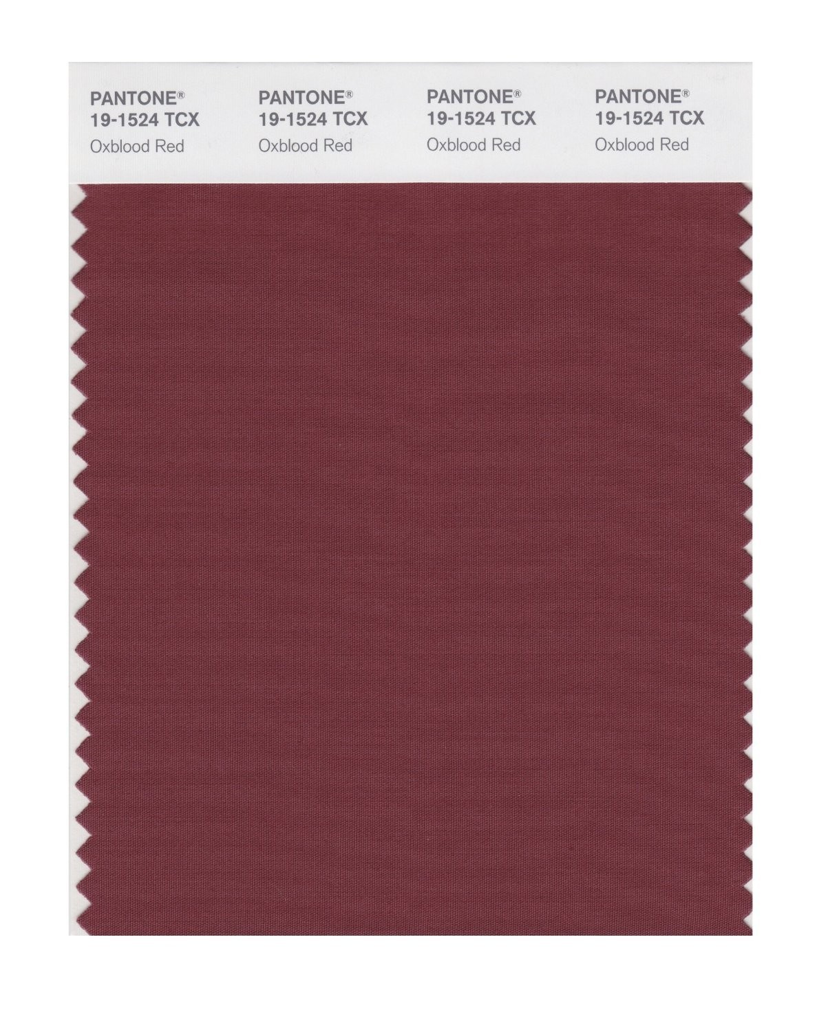 Pantone 19-1524 TCX Swatch Card Oxblood Red