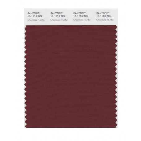 Pantone 19-1526 TCX Swatch Card Chocolate Truffl