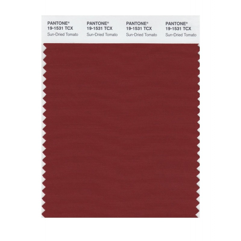 Pantone 19-1531 TCX Swatch Card Sun-Dried Tomato