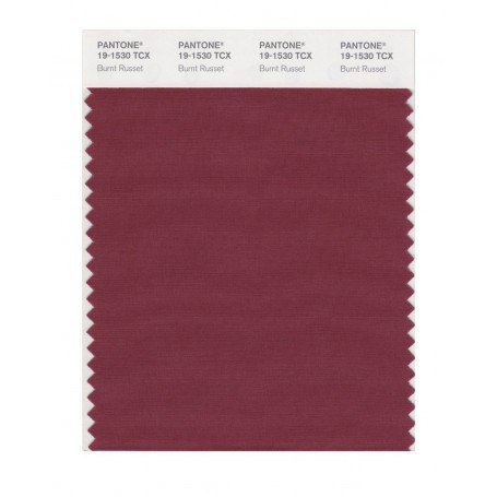 Pantone 19-1530 TCX Swatch Card Burnt Russet