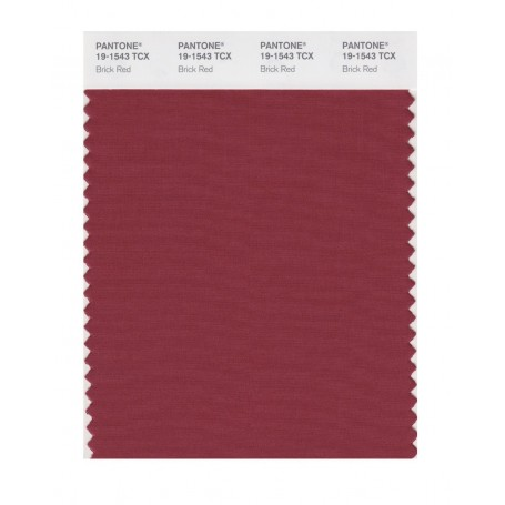 Pantone 19-1543 TCX Swatch Card Brick Red