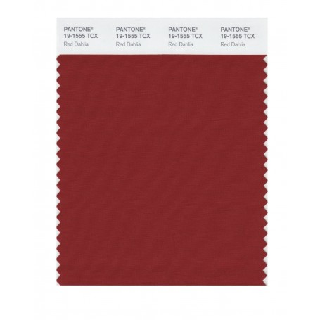 Pantone 19-1555 TCX Swatch Card Red Dahlia
