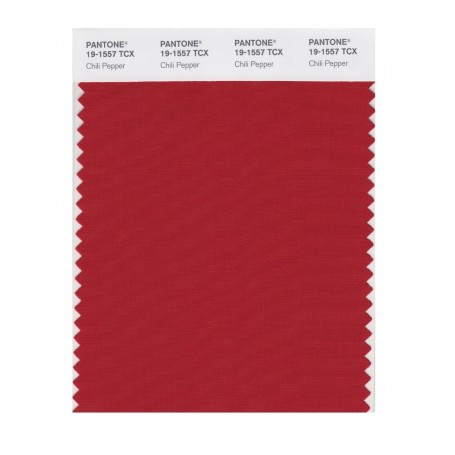 Pantone 19-1557 TCX Swatch Card Chili Pepper