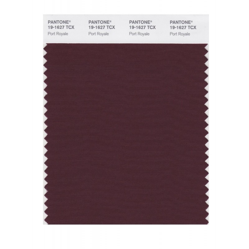 Pantone 19-1627 TCX Swatch Card Port Royale