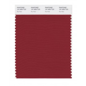 Pantone 19-1656 TCX Swatch Card Rio Red