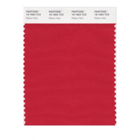 Pantone 19-1663 TCX Swatch Card Ribbon Red