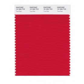 Pantone 19-1664 TCX Swatch Card True Red
