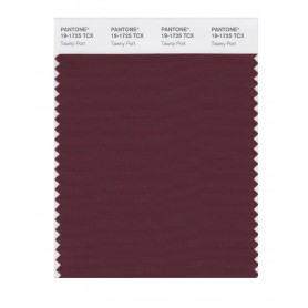 Pantone 19-1725 TCX Swatch Card Tawny Port