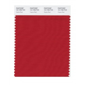 Pantone 19-1758 TCX Swatch Card Haute Red