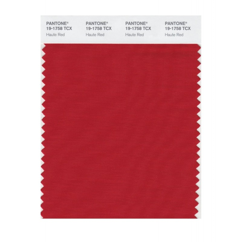 Pantone 19-1758 TCX Swatch Card Haute Red Buy in india