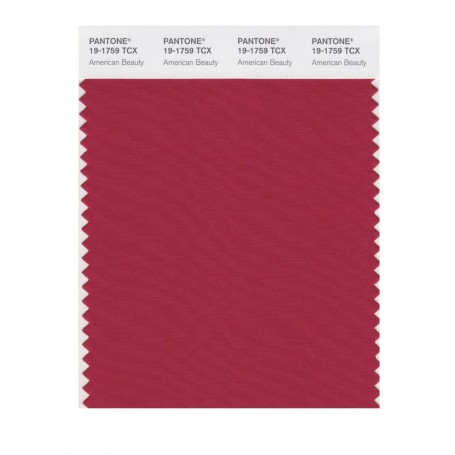 Pantone 19-1759 TCX Swatch Card American Beauty