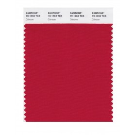 Pantone 19-1762 TCX Swatch Card Crimson