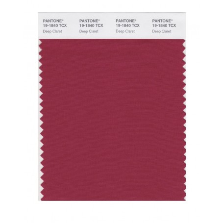 Pantone 19-1840 TCX Swatch Card Deep Claret