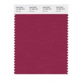 Pantone 19-1850 TCX Swatch Card Red Bud