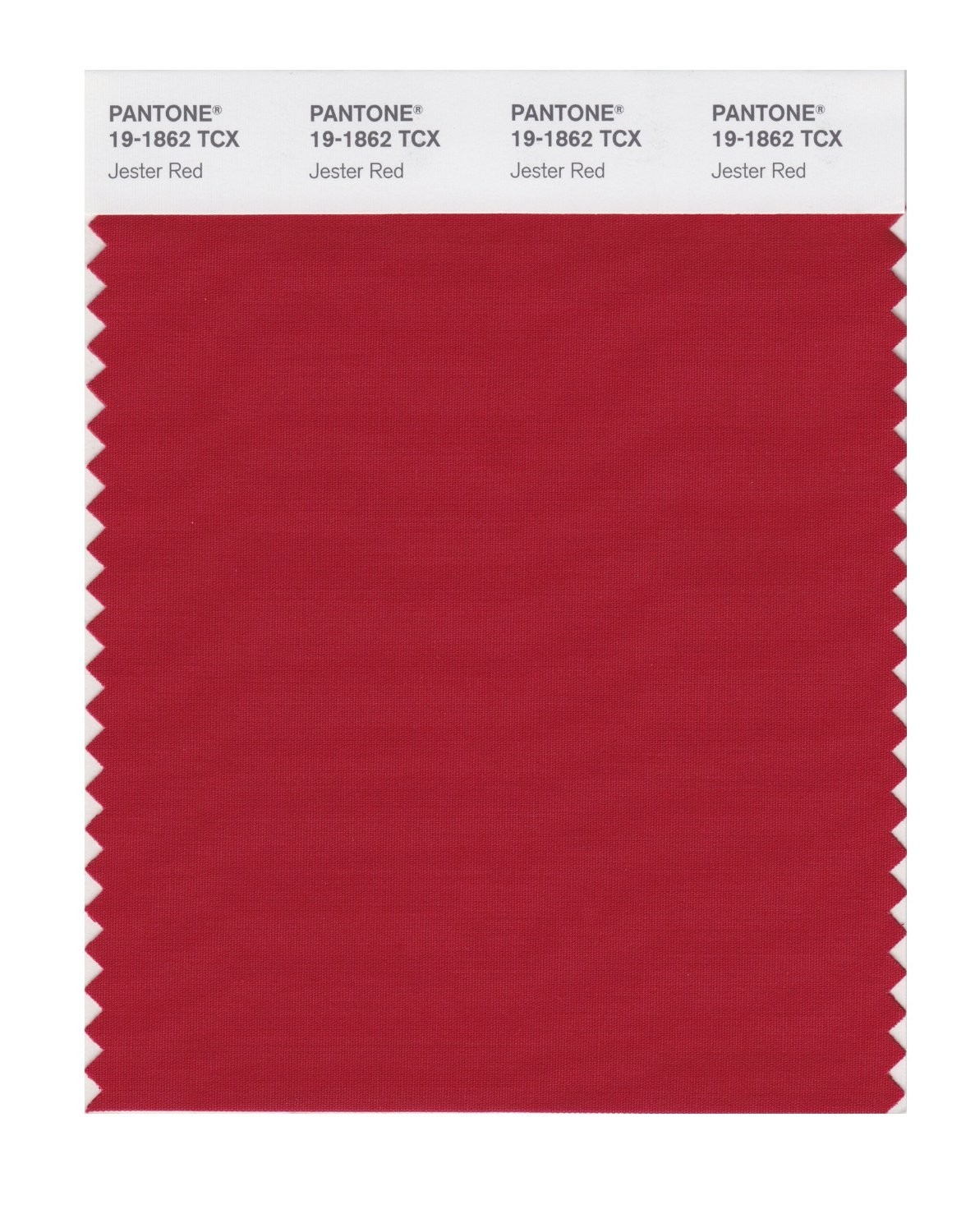 Pantone 19-1862 TCX Swatch Card Jester Red