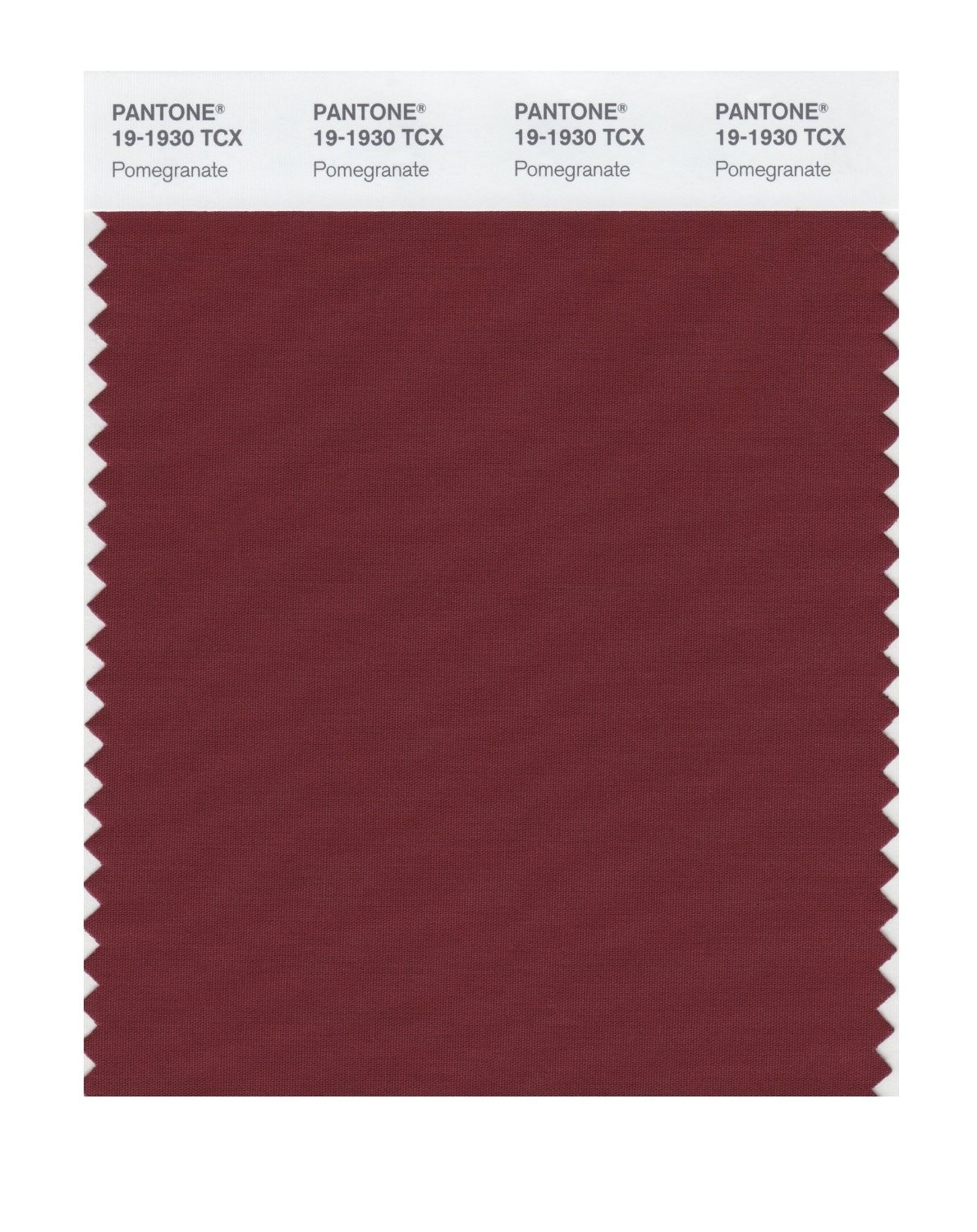Pantone 19-1930 TCX Swatch Card Pomegranate