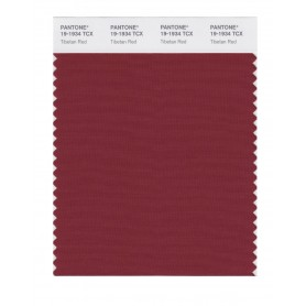 Pantone 19-1934 TCX Swatch Card Tibetan Red
