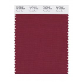 Pantone 19-1940 TCX Swatch Card Rumba Red
