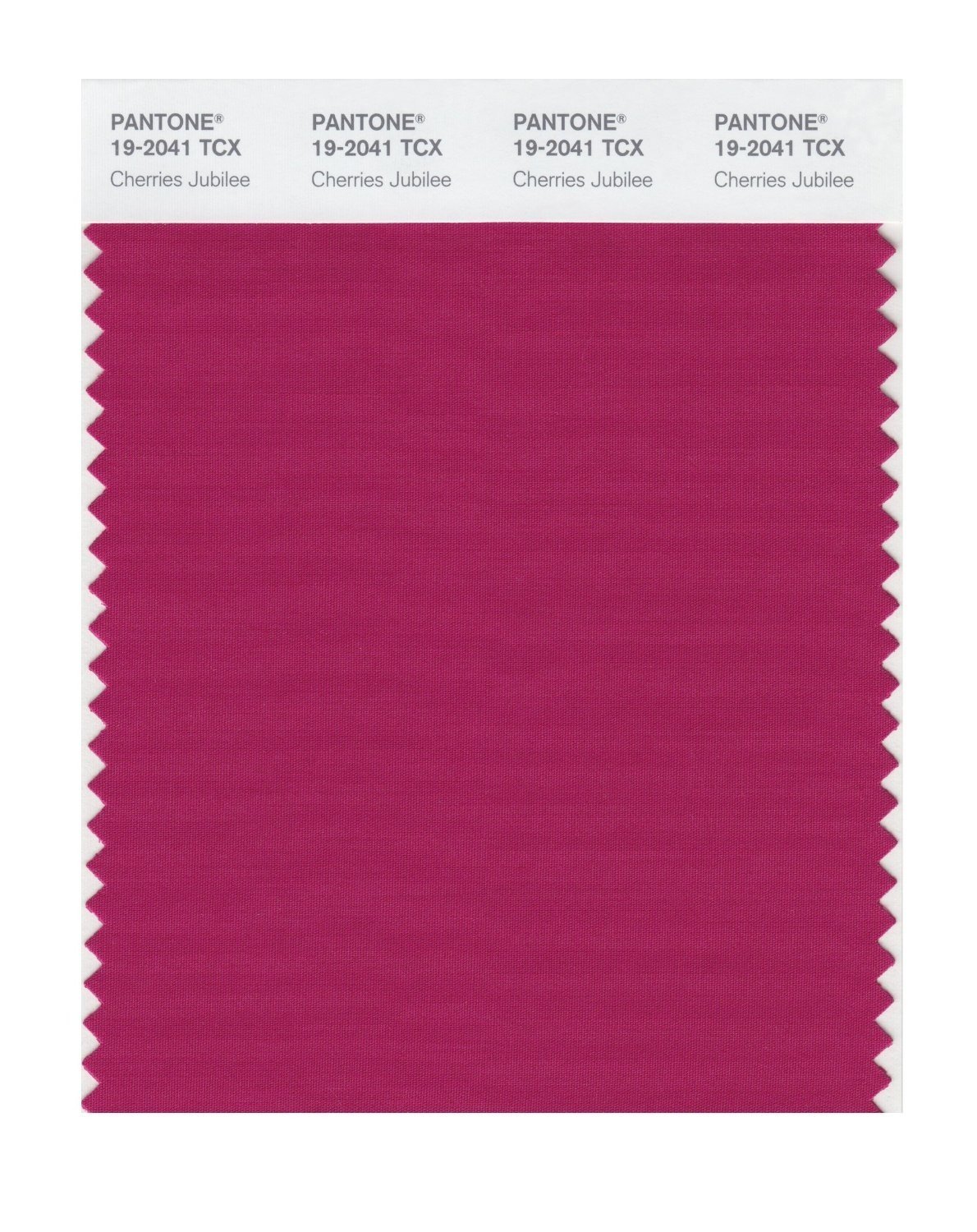 Pantone 19-2041 TCX Swatch Card Cherries Jubilee