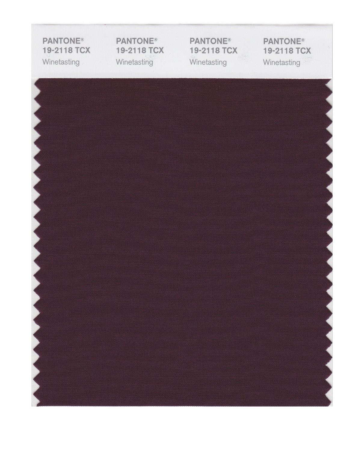 Pantone 19-2118 TCX Swatch Card Winetasting