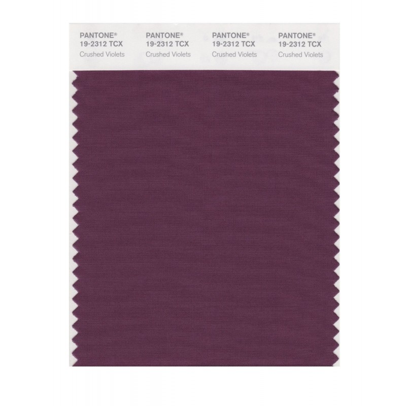 Pantone 19-2312 TCX Swatch Card Crushed Violets